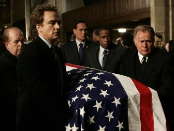 Leo's funeral in West Wing