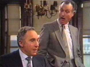 Jim Tucker and Sir Humphrey in Yes Priminister