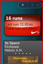 Nike Plus Vista widget