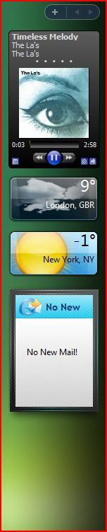 Cool widgets in Vista