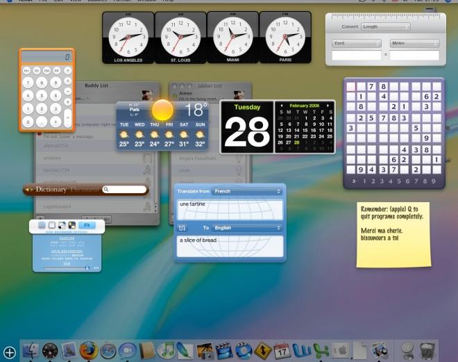 Lots of widgets (MacOSX)