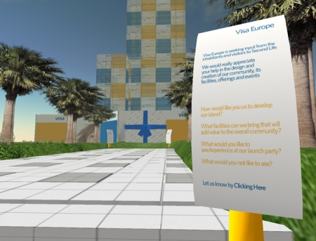Visa in Second Life; please form an orderly queue