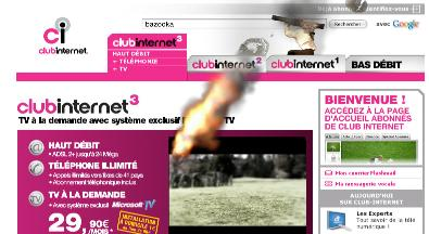 Duel - page advert for Club Internet