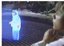 Princess Leia hologram from Star Wars