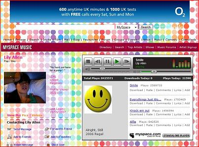 Lilly Allen - MySpace