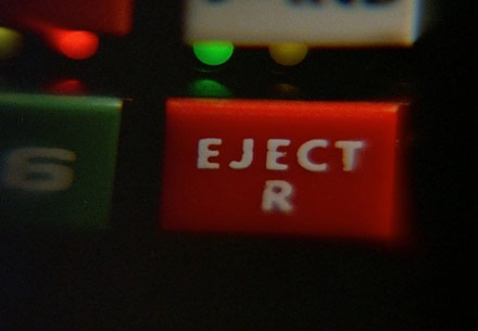 Eject button in KITT in Knight Rider