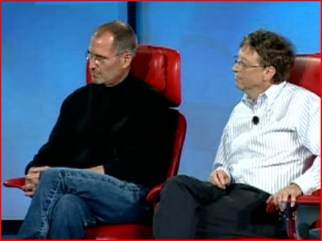 Gates and Jobs (read the body language!)