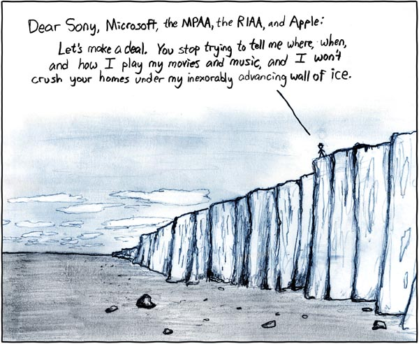 Hugh MacLeod cartoon about DRM