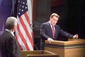 Bartlet vs Richie debate in the West Wing