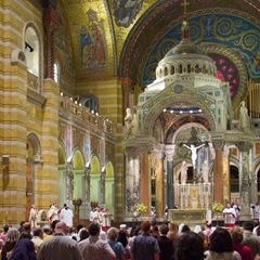 Image of inside of cathedral. The church has been very successful at creating shared meaning.