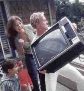 Throwing the TV away