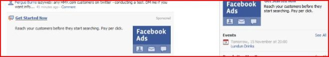 Facebook ad for facebook ads on Facebook
