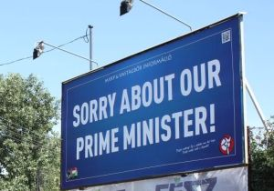 Hungary: sorry about our prime minister - billboard